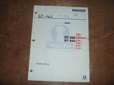 Wacker Neuson Rt 820 Roller Trench Owner Operator Maintenance Manual 7644