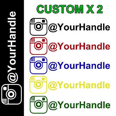 INSTAGRAM your user name handle Vinyl Decal Sticker 8 Car username custom jdm