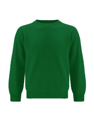 New Sweatshirt Kids  Crew Tops Round Plain School Uniform Fleece Unisex Jumper