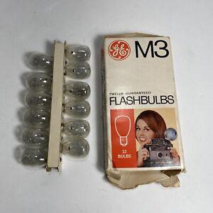 Vintage GE M3 Flashbulbs - 12 bulbs