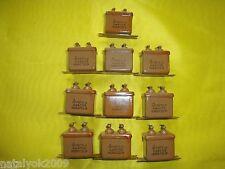 10 x MBGO-2 Paper PIO capacitors 4uF 160V ±10% NEW