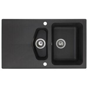 astracast chevron 1 5 vulkanschwarz granitsp le schwarz sp le granit k chensp le. Black Bedroom Furniture Sets. Home Design Ideas