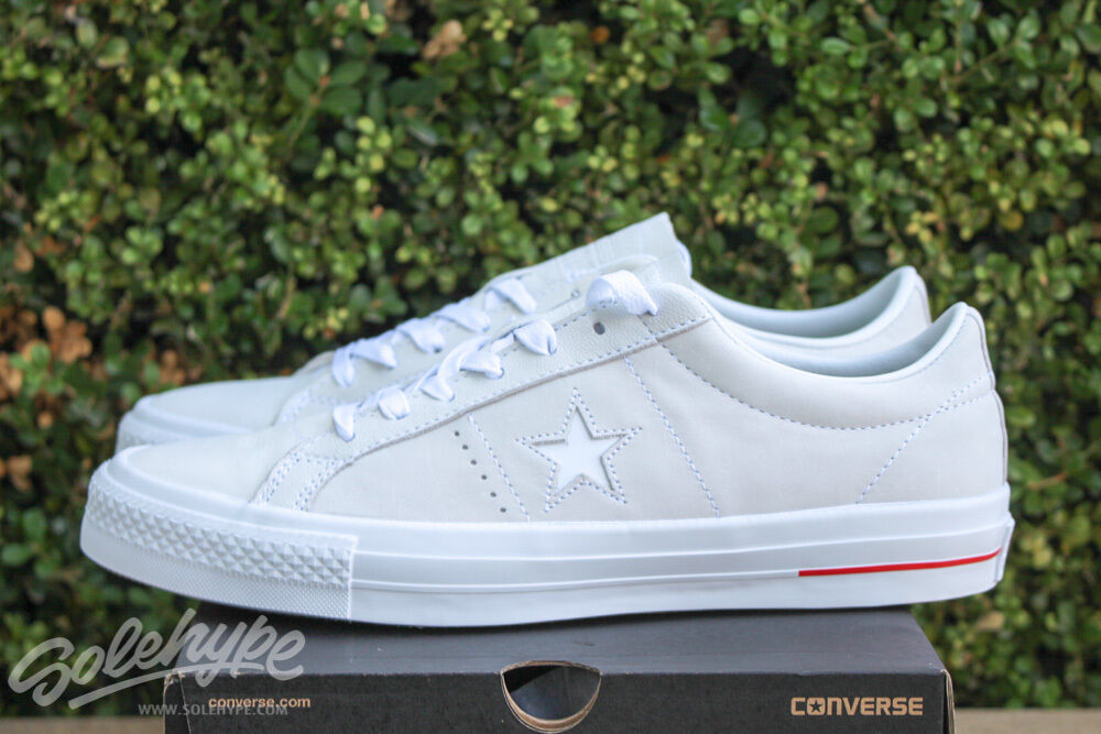 CONVERSE ALL STAR CHUCK STAR TAYLOR ONE STAR CHUCK PRO OX SZ 7.5 WHITE RED BLUE 151433C b2b911