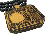 Wooden Vintage Tv Television Pendant Piece W/ 36 Chain Necklace Good Wood Style