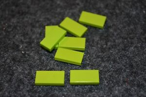 8 Green 1x4 Smooth Finishing Tile Brick Bricks  ~ Lego  ~ NEW