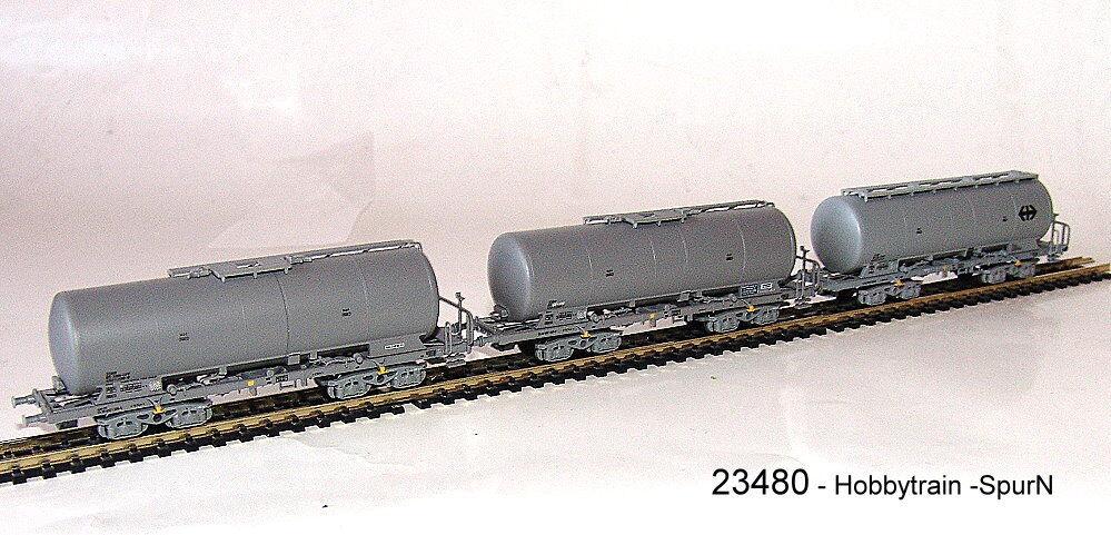 HOBBYTRAIN 23480-3tlg. gueterw Set Vagón silo Uacs SBB ep.v   VI