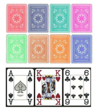 8 Decks 4 PIP Modiano Cristallo 100% Plastic Playing Cards Poker Jumbo Index NEW