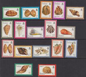 BELIZE-1980-Shells-definitives-set-M-Sheet-2-SG532-48-MS549-MNH
