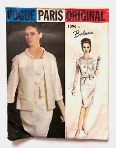 Vintage-60s-Vogue-Paris-Original-BALMAIN-Sewing-Pattern-2-Pc-Dress-Jacket-UNCUT