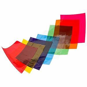 A4 Cellophane Sheets 48 Sheets of Assorted Coloured CELLOPHANE 7339 ...