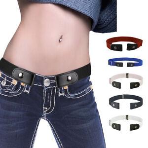 Unisexe-Sans-Boucle-Elastique-Confortable-Invisible-Ajustable-Ceinture-Pantalons