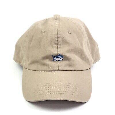 Southern Tide Men/'s Khaki Embroidered Skipjack Adjustable Strapback Hat