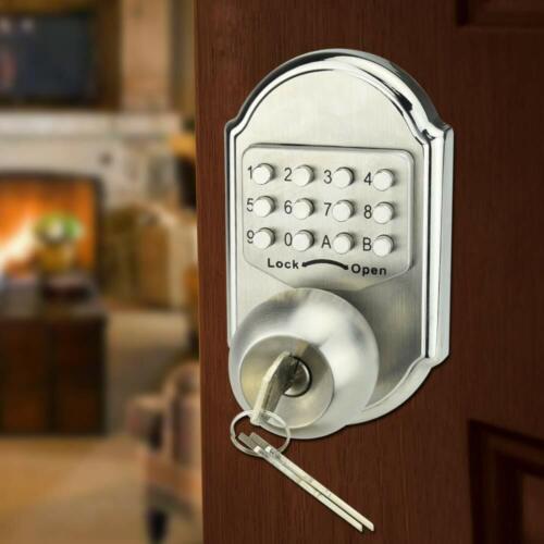 Mechanical Digital Code Door Lock Keyless Keypad Security Entry Combination Lock
