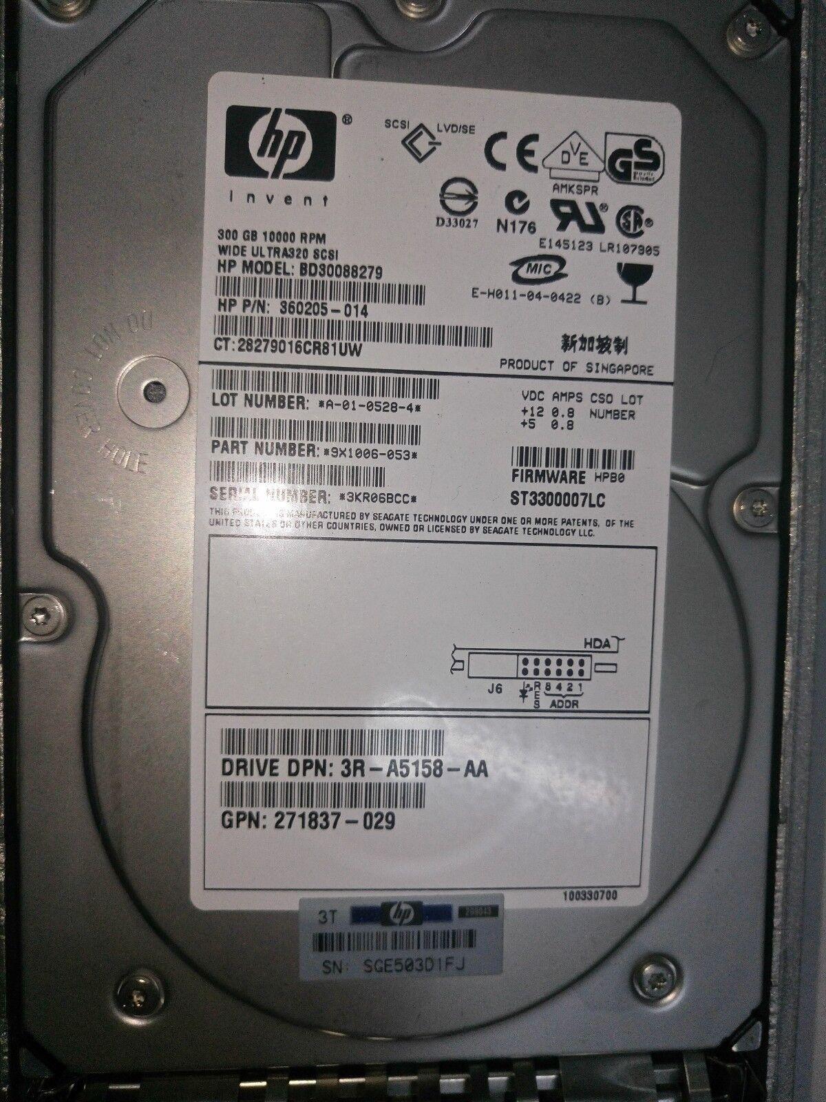 HP 300GB Ultra SCSI 10KRefurbished, 364881-001Refurbished Certified Refurbished