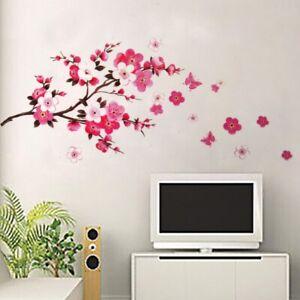 Wandsticker-Blumen-Rosen-Natur-Wandtattoo-WandAufkleber-Kirschblueten-Sticker