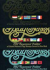 UNO NY - Folder Flaggenserie 1980 - 1987 - Postpr.  25,76 $  ( 38221 )
