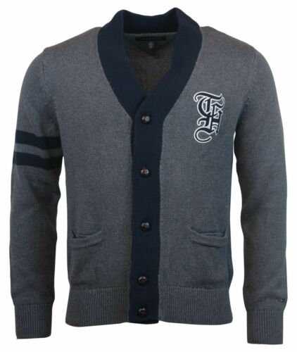 Tommy Hilfiger Men/'s 100/% Cotton Cardigan Embroidered