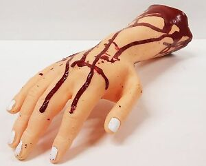 Cosplay Halloween Costume Horror Props  Latex Toys Lifesize Bloody Hand