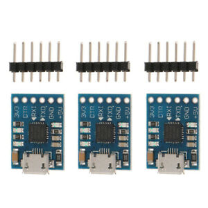 3Pcs-CP2102-Chip-Micro-USB-to-TTL-RS232-Module-UART-Serial-Converter-Board