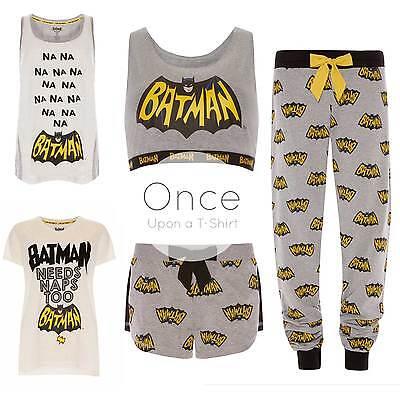 PRIMARK Ladies DC COMICS BATMAN Pyjama Pieces Vest, Shorts, T-Shirt or PJ Pants