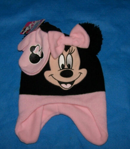 One Size Youth Toddler Girls Disney Minnie Mouse  2-Piece Set Hat /& Mitten