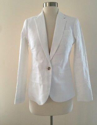 Jcrew Campbell blazer in linen BEST SELLER Jacket G0993 White 00 $168 SUMMER '17
