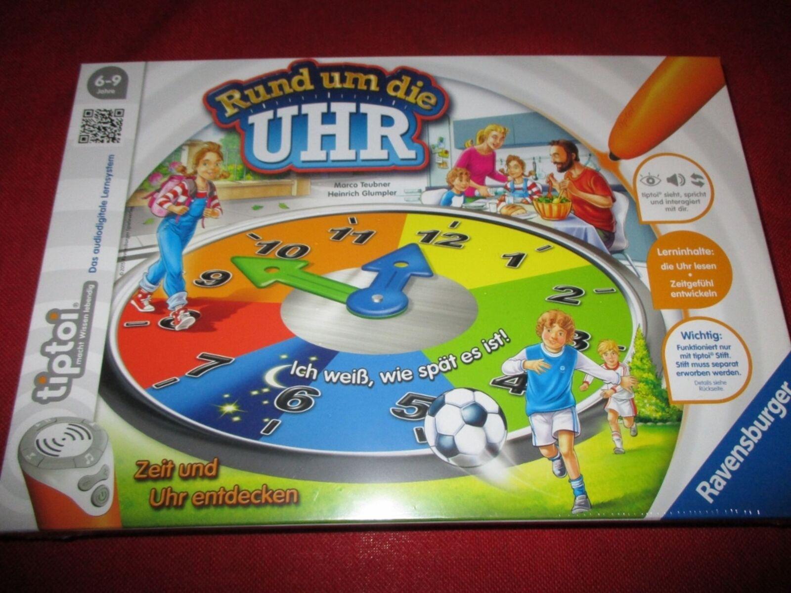Ravensburger 00736 tiptoi® Lernspiel Rund um die Uhr NEU OVP  | Marke
