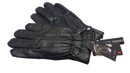 Cuir Nappa Souple Véritable Noir de Qualité Gants pour Femme Driving Hiver Chaud