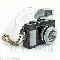 Black Digital Camera Light 1:6 For Barbie Blythe Doll's House Miniature Key Ring