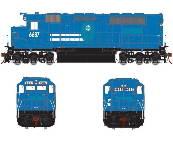 Athearn ATHG63655 Ho SDP45 Vmx  ExCr Locomotive avec  DCC Sonde Équipé Rtr