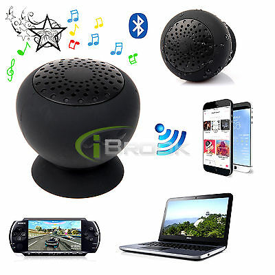 Portable Mini Bluetooth Wireless Waterproof Speaker Silicone Suction With MIC US