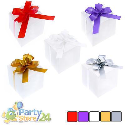 50x Deko Box mit Schleife Hochzeit Dekoration Dekobox Basteln Party Gastgeschenk