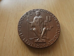 *meissen* Porzellan Medaille 1976*siegel Des Bischofs Martin V Meißen*ca,65mm(4) Die Neueste Mode