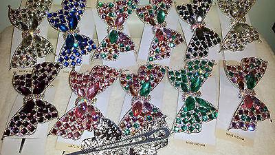 Joblot 12 pcs Bow Design Diamante hairclips hairgrips NEW wholesale lot 5