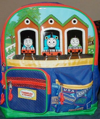 THOMAS the TANK /& FRIENDS-ENGINE SHED CANVAS BACKPACK BACK PACK *NWT//RARE*HTF*