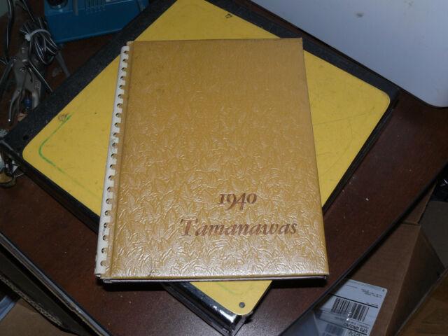 College Yearbook University Of Puget Sound Tacoma Washington WA Tamanawas 1940