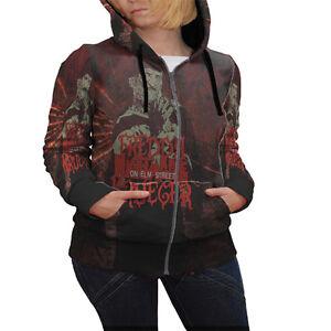 Hoodie Freddy A Krueger Street Zipper On Apparel Elmo Nightmare donna da wrw5Yqd