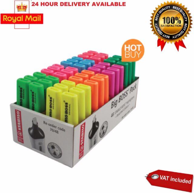 Stabilo Boss Original Highlighter Singles or Packs of 10 Assorted Colours
