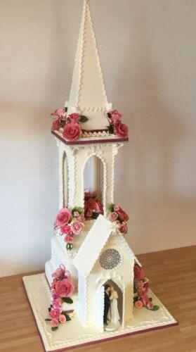 WILTON Cathedral Church Kit CAKE Decorating Wedding Cake Topper Communion Gyps