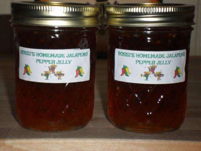 ROSSI'S ORGANIC JALAPENO PEPPER JELLY  (pack of 2 -8oz.jars) Louisiana Grown