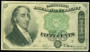 EDW1949SELL : USA 50¢ Fractional Currency in nice quality.