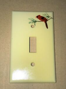 Red Cardinal Plastic Wall Toggle Light Switch Plate Cover Ebay