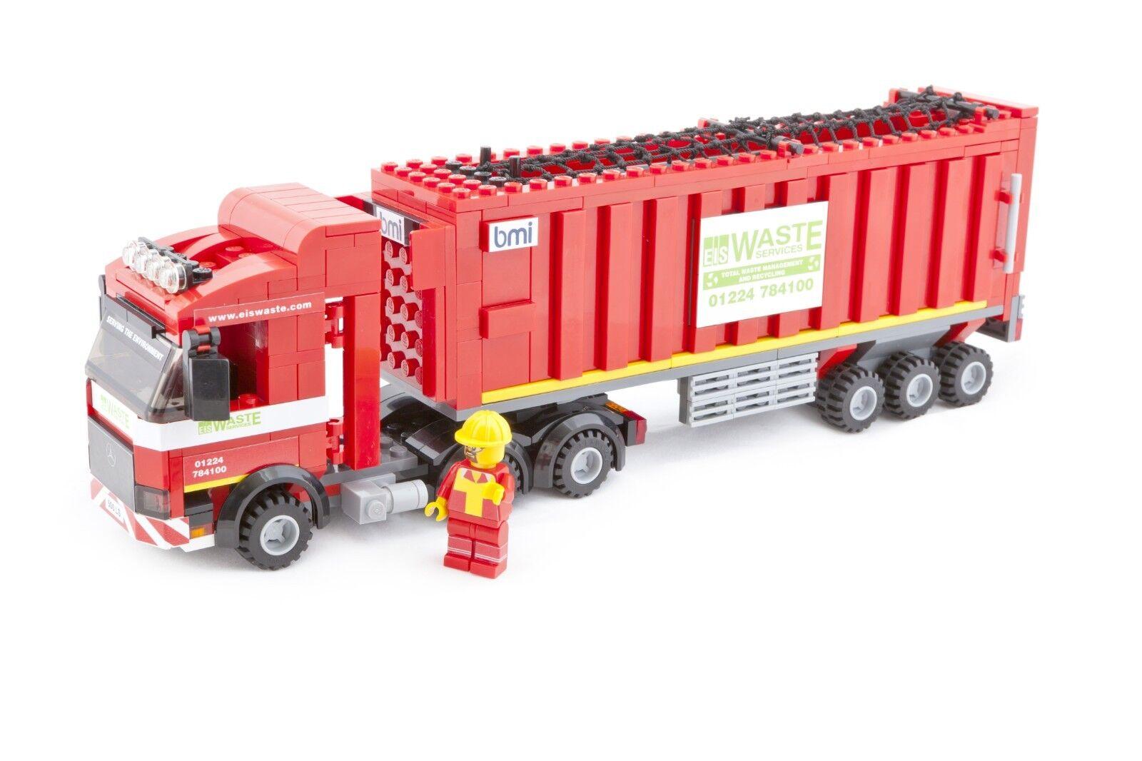 Edición limitada de los servicios de residuos EIS Articulado Camión Kit con ladrillos LEGO ®