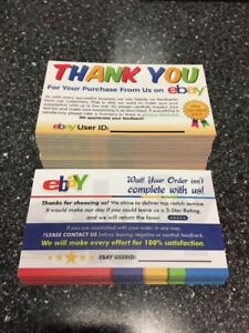 100 ebay thank you cards seller feedback ebay business cards 5 star image is loading 100 ebay thank you cards seller feedback ebay reheart Gallery