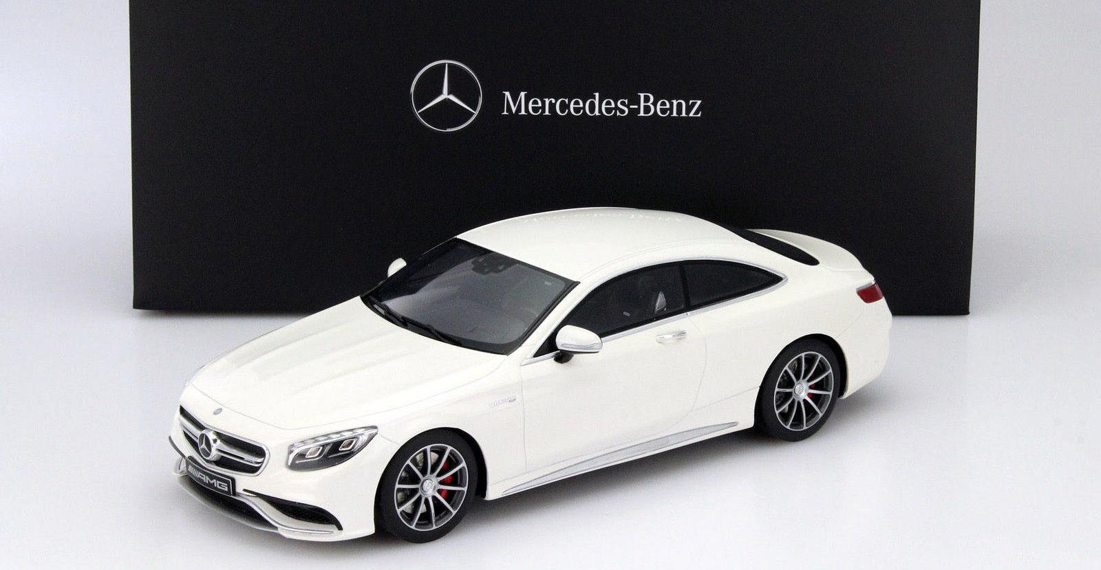 GT Spirit Mercedes Benz S63 AMG Coupe White Dealer LE 1000pcs 1 18New item