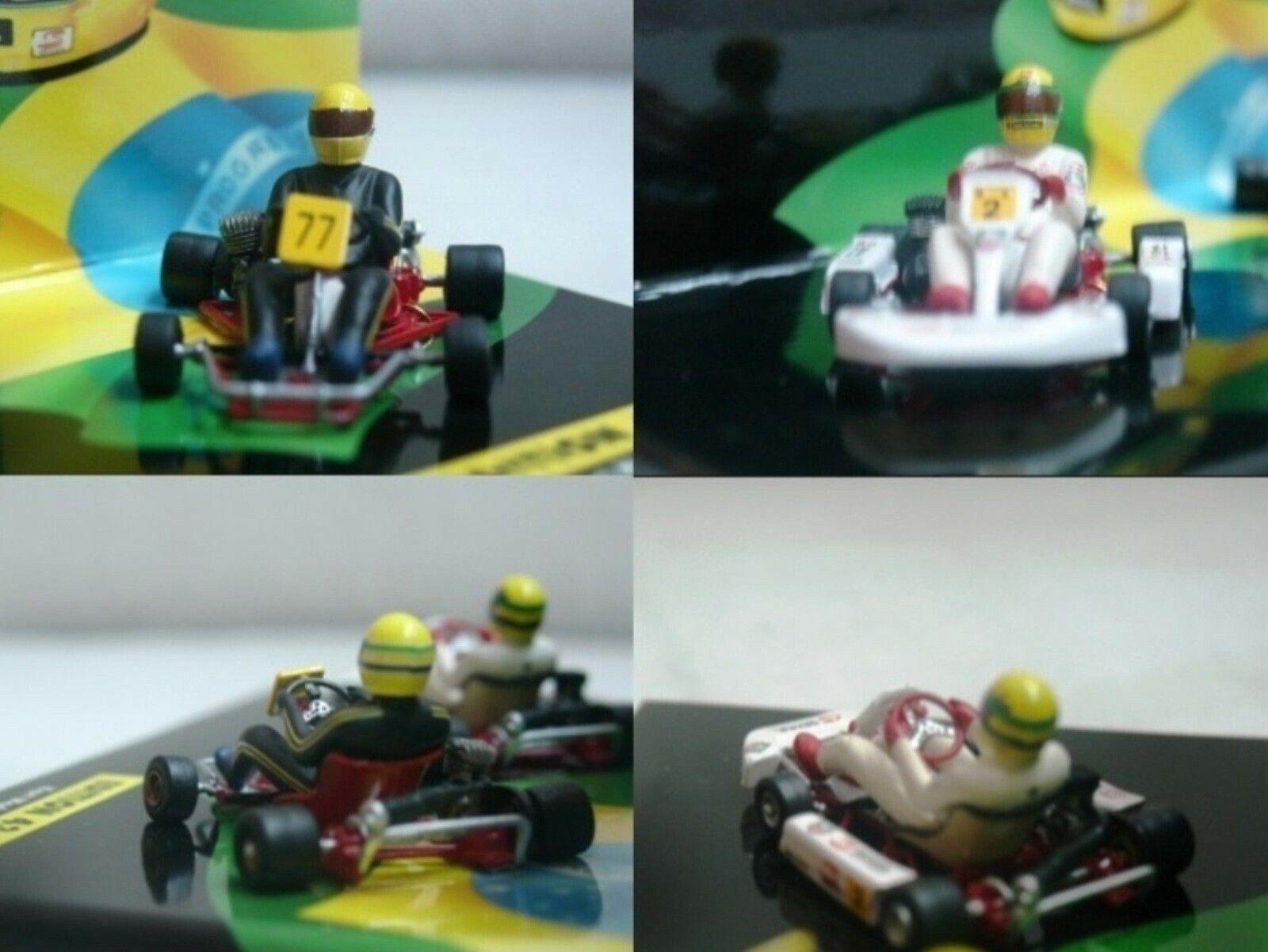 WOW EXTREMELY RARE Kart Senna Go Kart Set 1982 & 1993 ASC  43 Minichamps