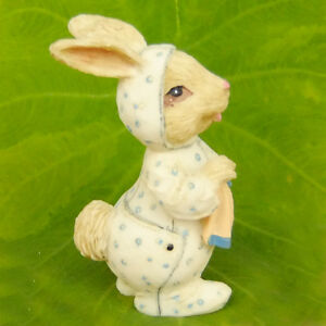 Rabbit-Bunny-Baby-Pajamas-Fairy-Garden-Terrarium-Decor-Doll-Figurine-Comic-Toy
