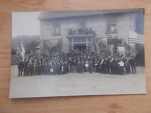 VINTAGE-1909-POSTCARD-CHARD-ROAD-HOTEL-PERRY-ST-FETE-CHARD-SOMERSET-RP
