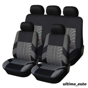 FULL-SET-GREY-FABRIC-SEAT-COVERS-FOR-PEUGEOT-206-207-307-308-407-406-MPV-3008