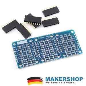 Triple-Base-PCB-Proto-Board-Shield-Erweiterung-fuer-Wemos-D1-Mini